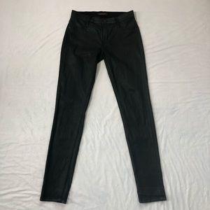 James Twiggy Coated  Black Jeans Sz 29